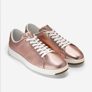 Cole Haan Grand.OS Rose Gold Tennis Sneakers
